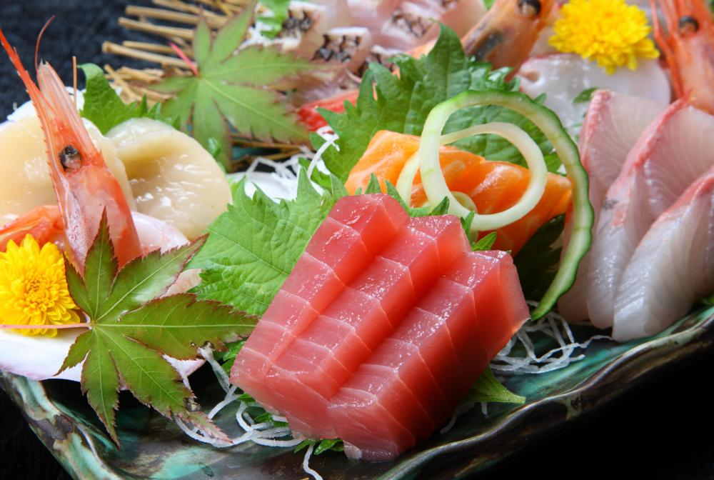 Sashimi is an important part of the Japanese food culture, often being served before a meal as a palate cleanser.