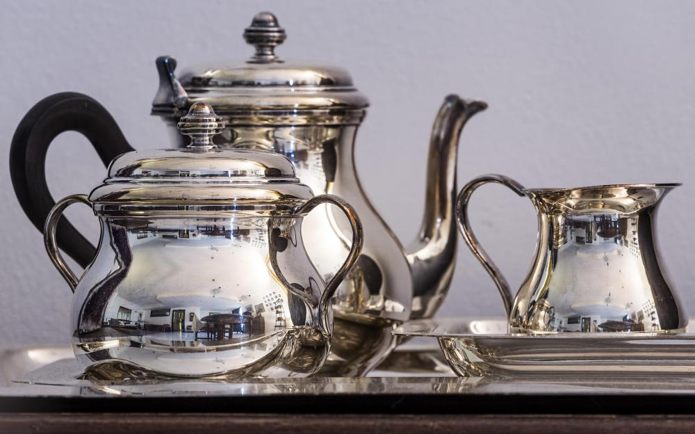Fine china and silver should be used at formal tea events.