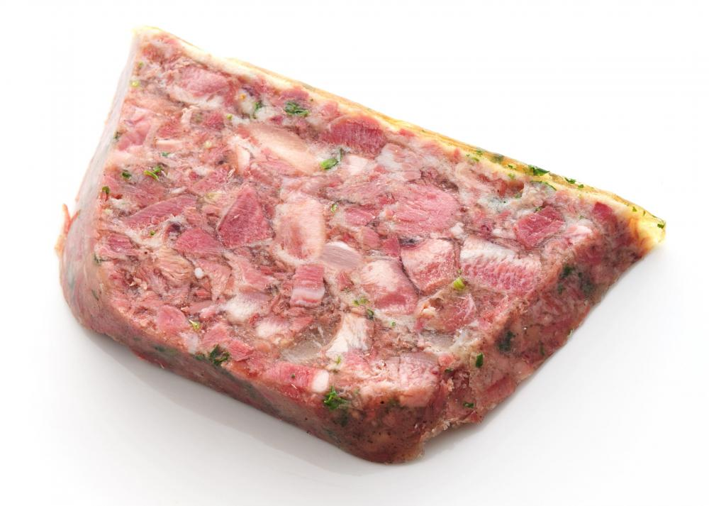 Head cheese, a type of pork roulade.