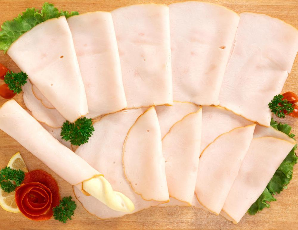 Sliced turkey is a popular type of lunch meat.