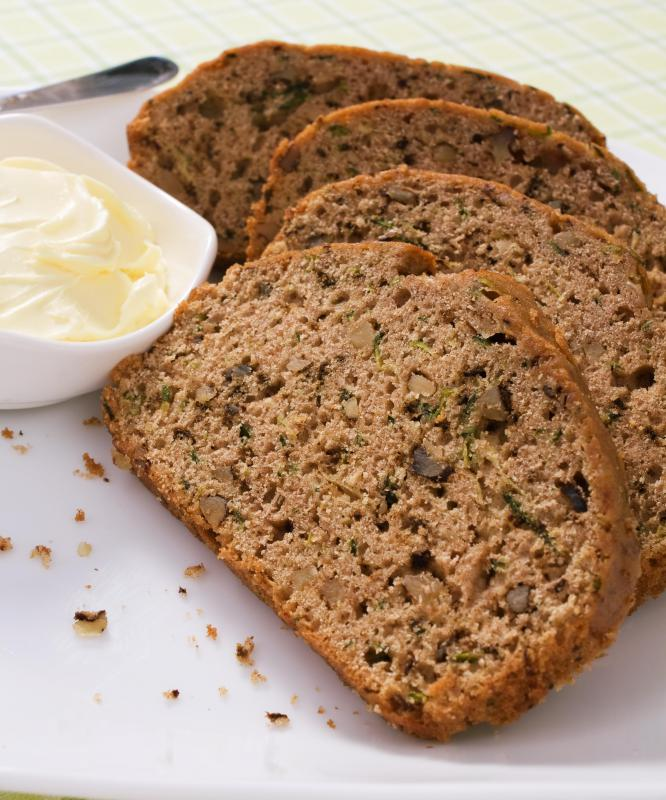Zucchini bread is a common type of quick bread that's easy to bake.