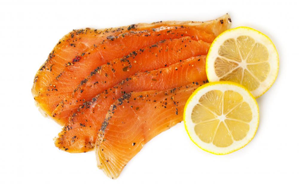 Cold smoking is often used for salmon.