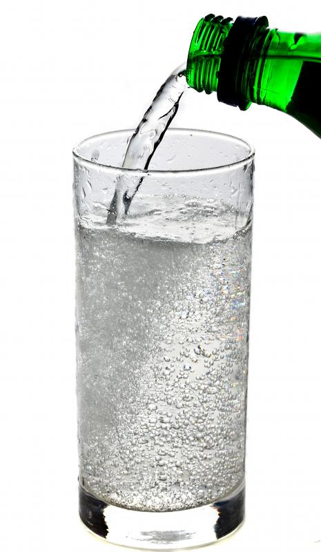 Sparkling water.