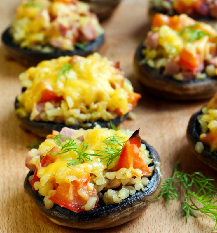 Stuffed mushrooms make a delicious bite-sized appetizer.