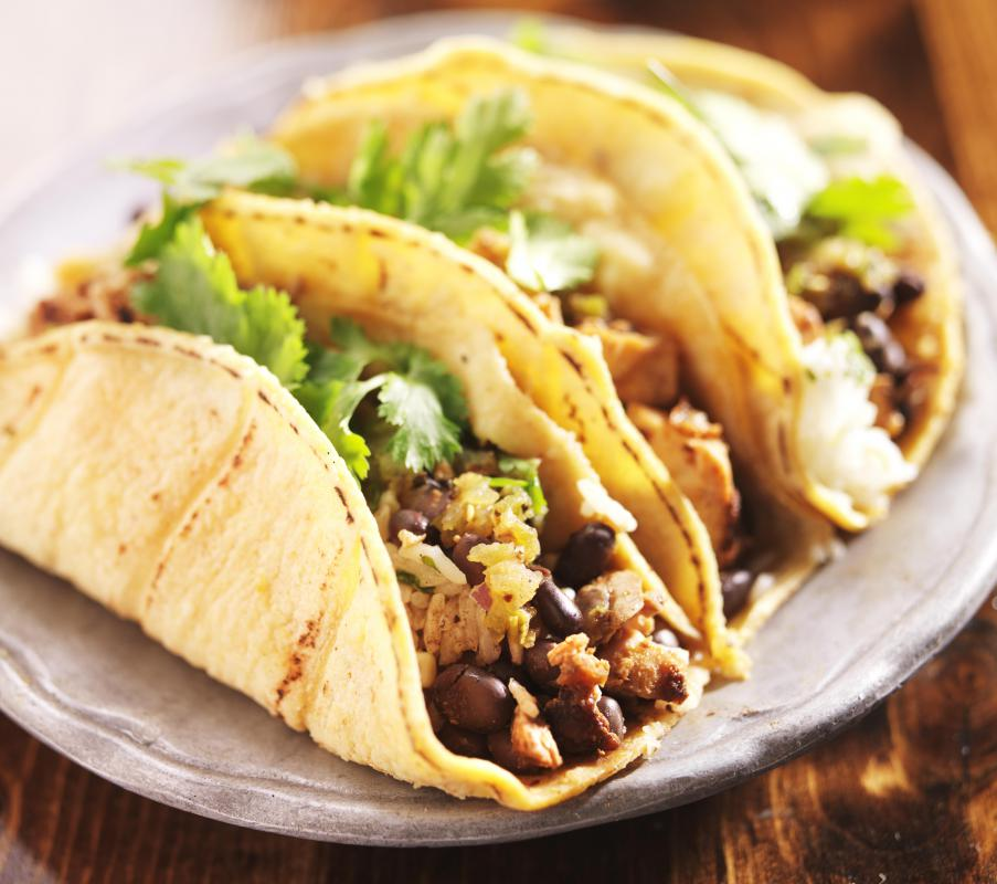 Smaller, taco-sized tortillas may also be used to make small burritos.