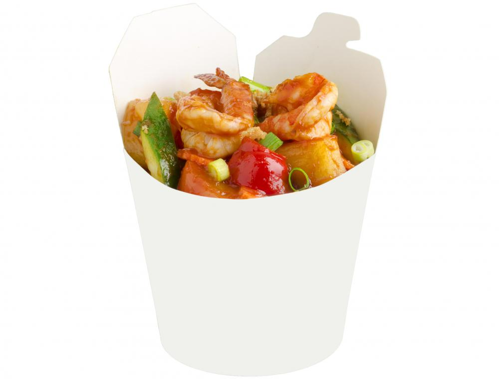 Hunan shrimp is spicy and stir fried with vegetables.