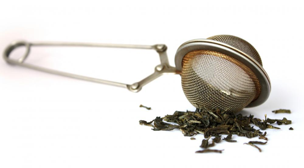 A tea infuser is useful when using loose tea leaves as they are easy to discard when the tea is ready.