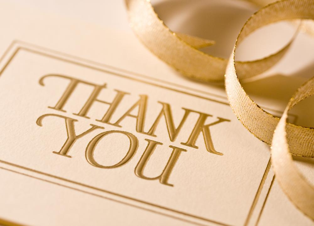 It is good etiquette to send thank-you notes to guests following a dinner party.