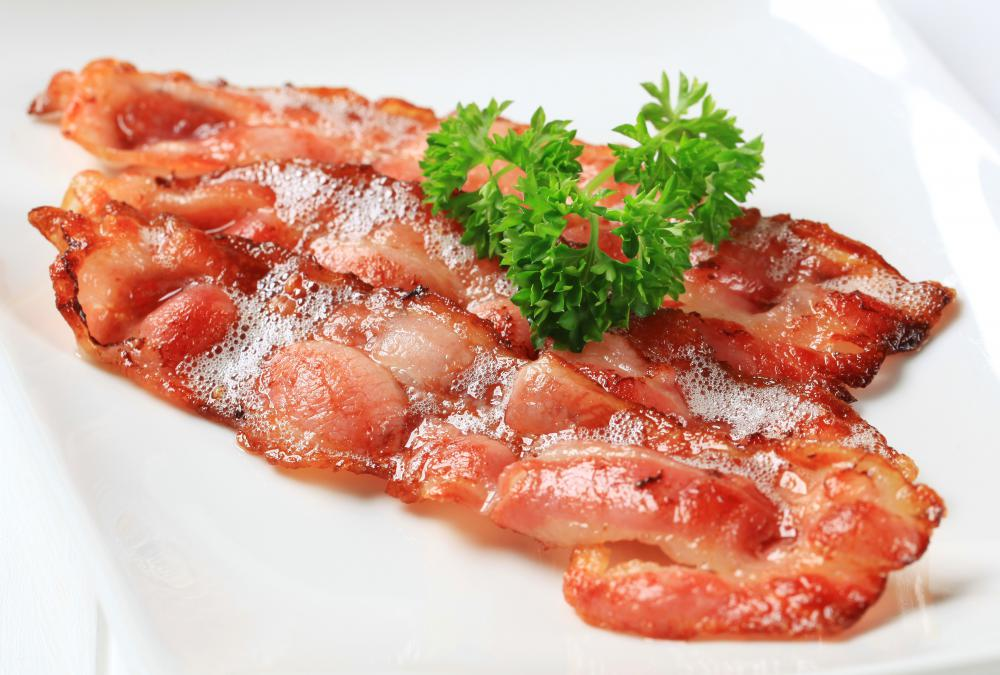 Bacon is commonly featured in Welsh breakfasts.