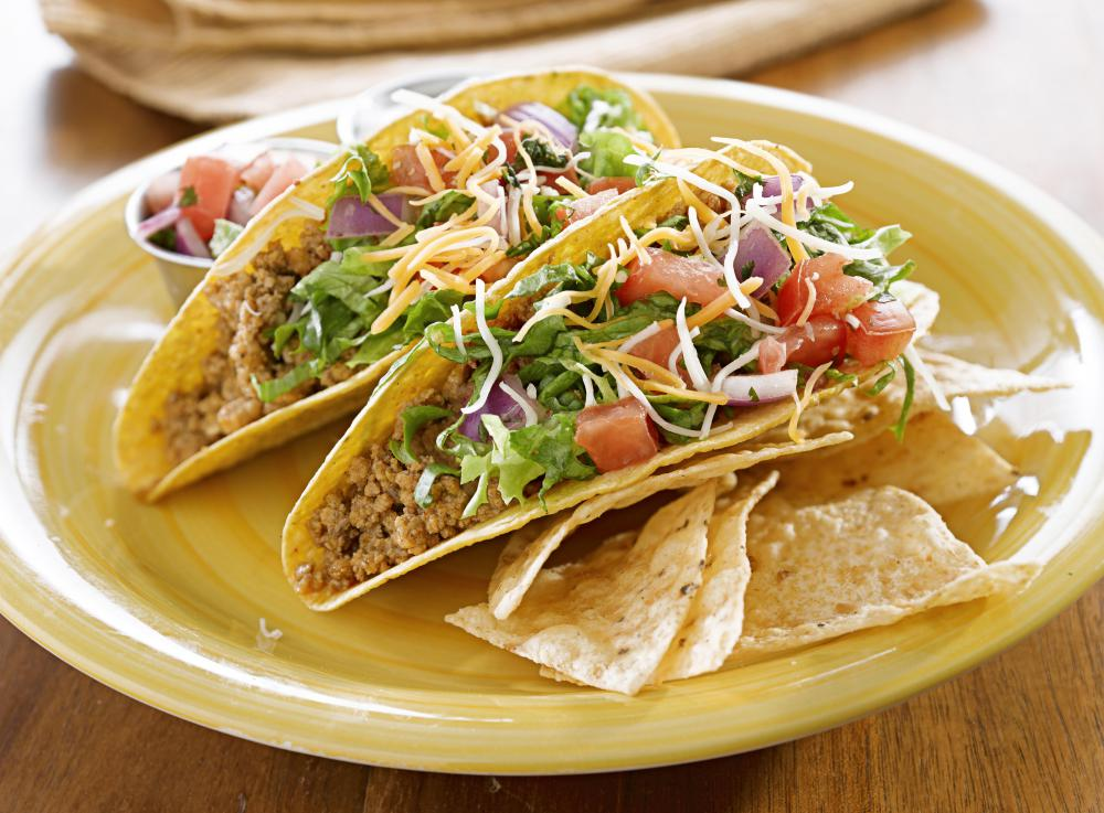 Mexican white sauce can  be served over tacos.