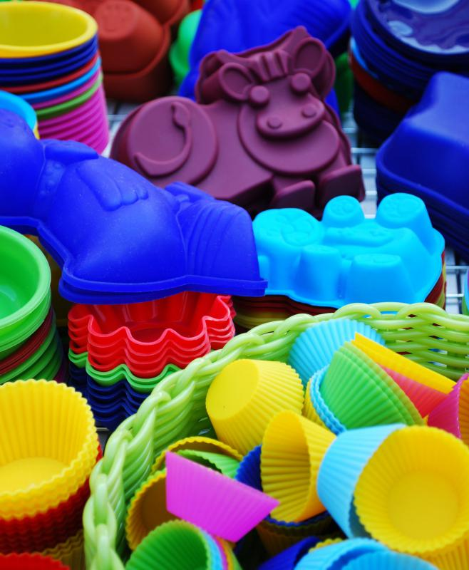 Cupcakes are often made in silicone baking molds.