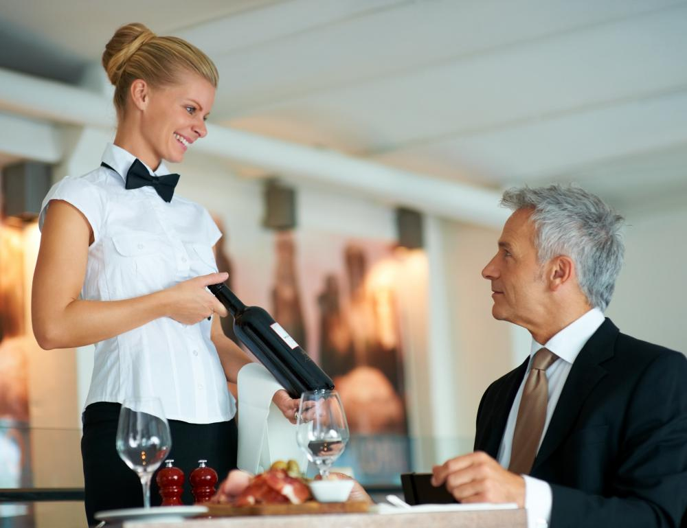 Waitresses must be able to explain menus to customers.