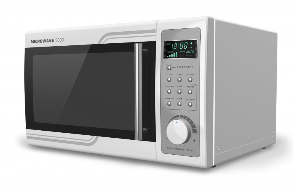 A microwave can be used to thaw a frozen goose.