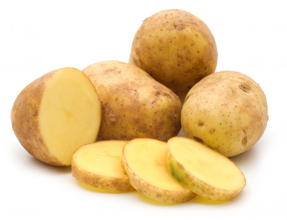 Yellow potatoes.