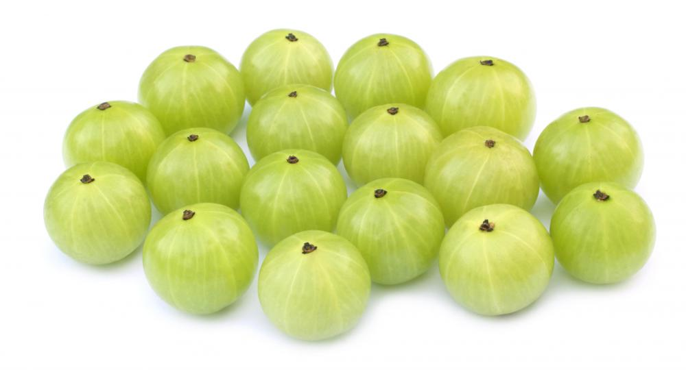 Whole gooseberries.