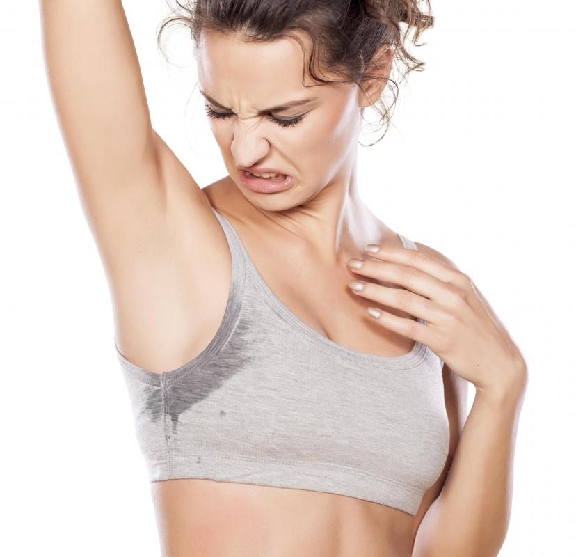 Natural salt crystals may form the base for deodorants or antiperspirants.