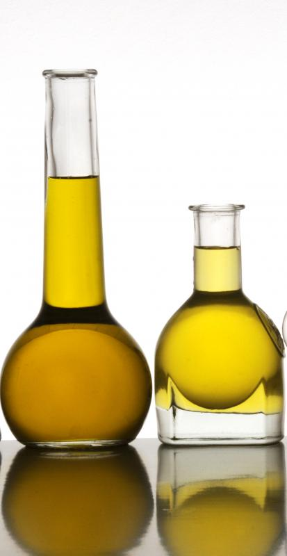 Containers of olive oil.